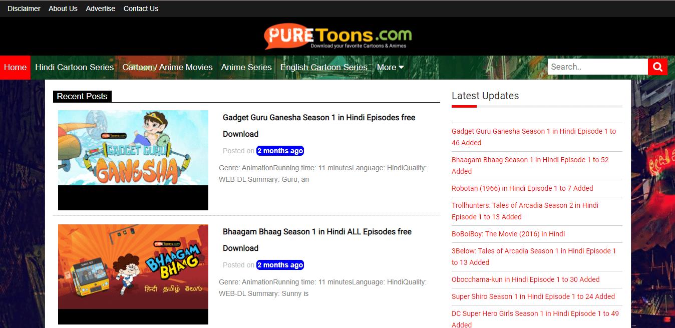 PureToonsMe Hindi Anime Download