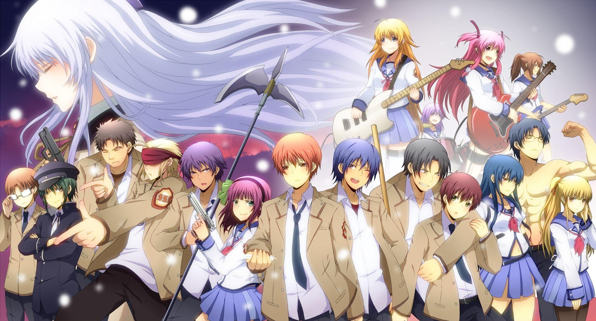 Emotional Drama anime about students in after life, Angel Beats