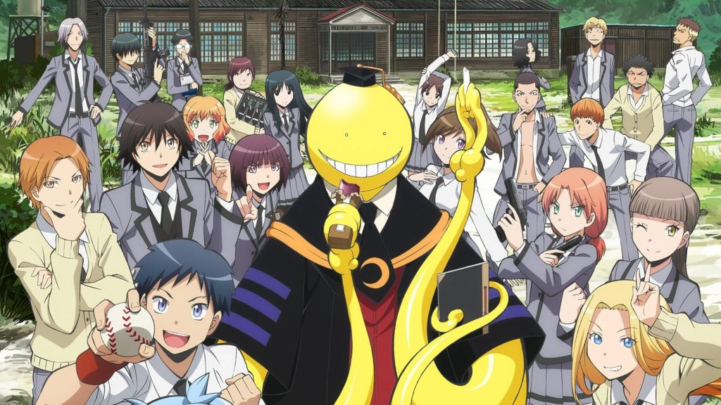 Koro Sensei from Assassination Classroom anime where the main character is overpowered from the start