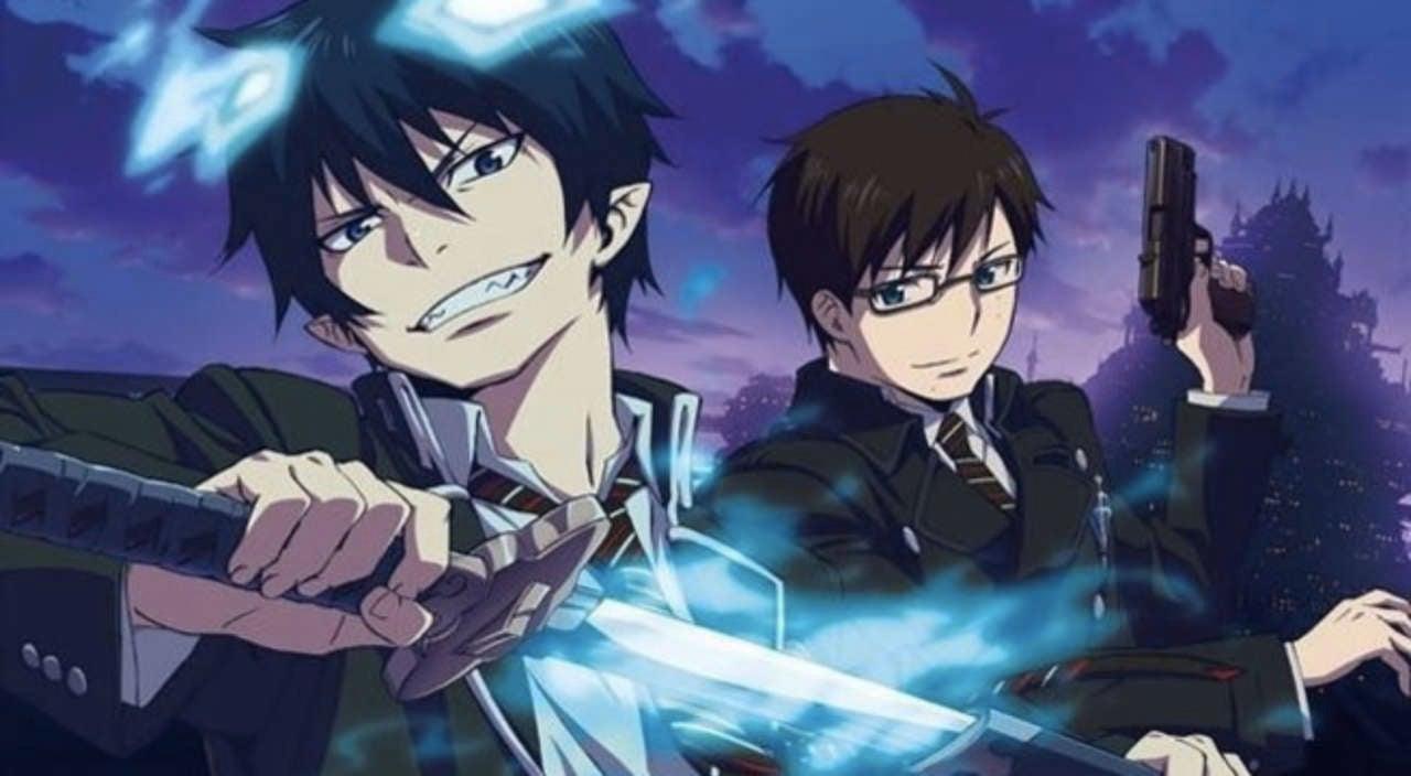 demon slaying anime, blue Exorcist