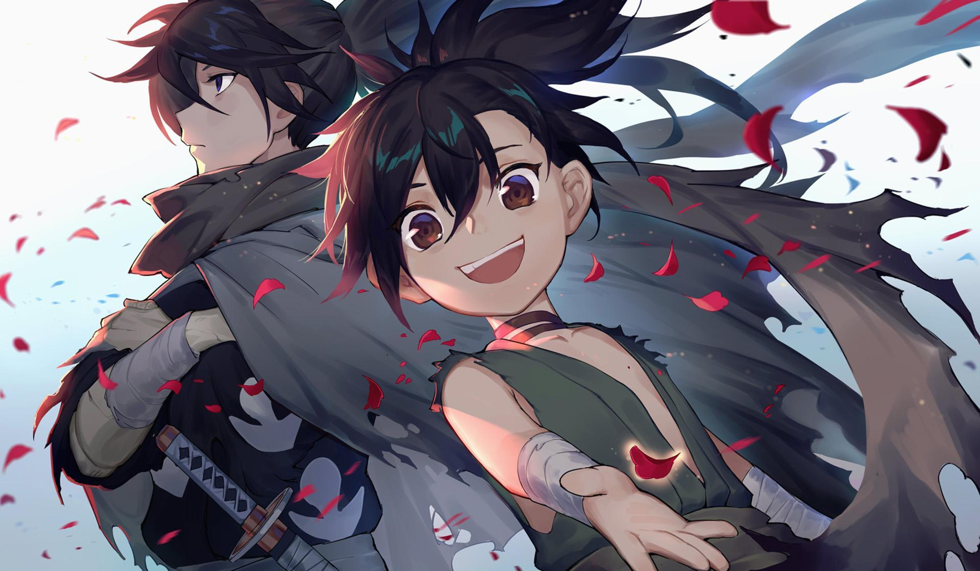 dark adventure anime similat to Demon Slayer, Dororo