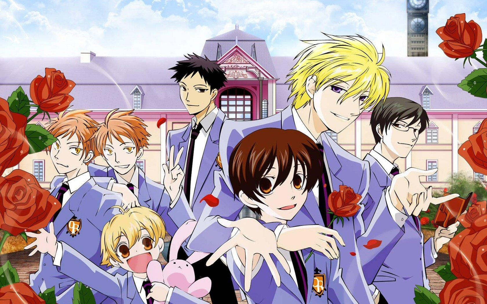 anime just like brothers conflict Ouran High School Host Club