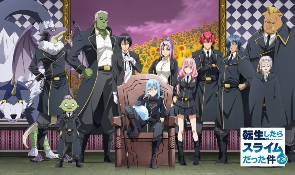That Time I Got Reincarnated as a Slime anime with op mc Rimuru tempest