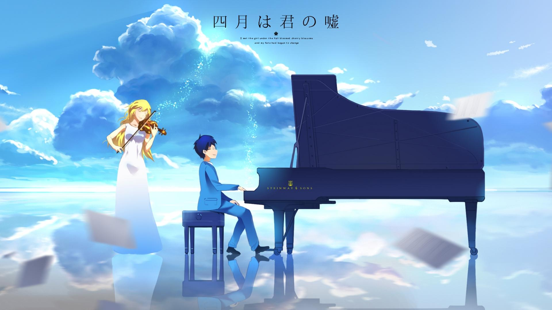 Romantic Drama anime Your Lie In April