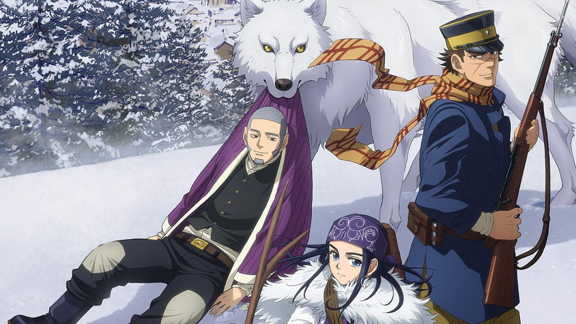 Treasure hunt anime Golden Kamuy, like To Your Eternity
