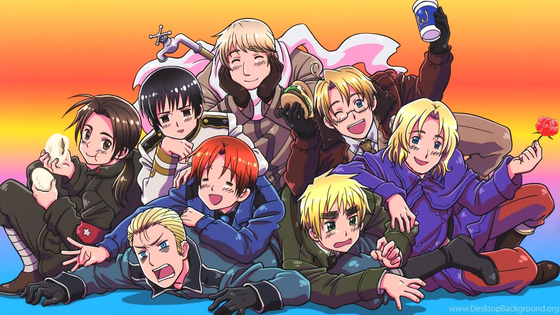 Gijinka anime about countries, Hetalia: Axis of Power