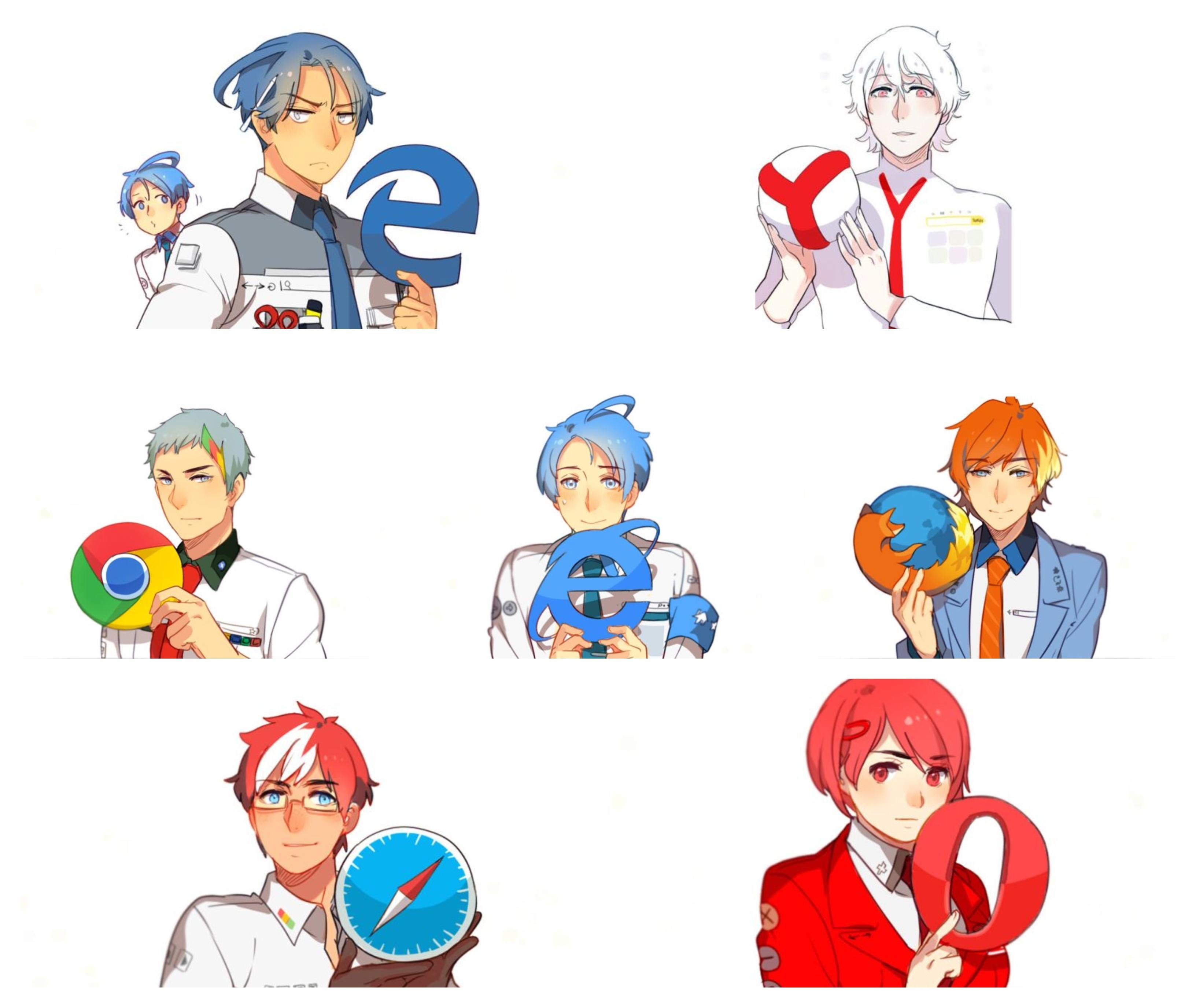 Internet browser as Gijinka