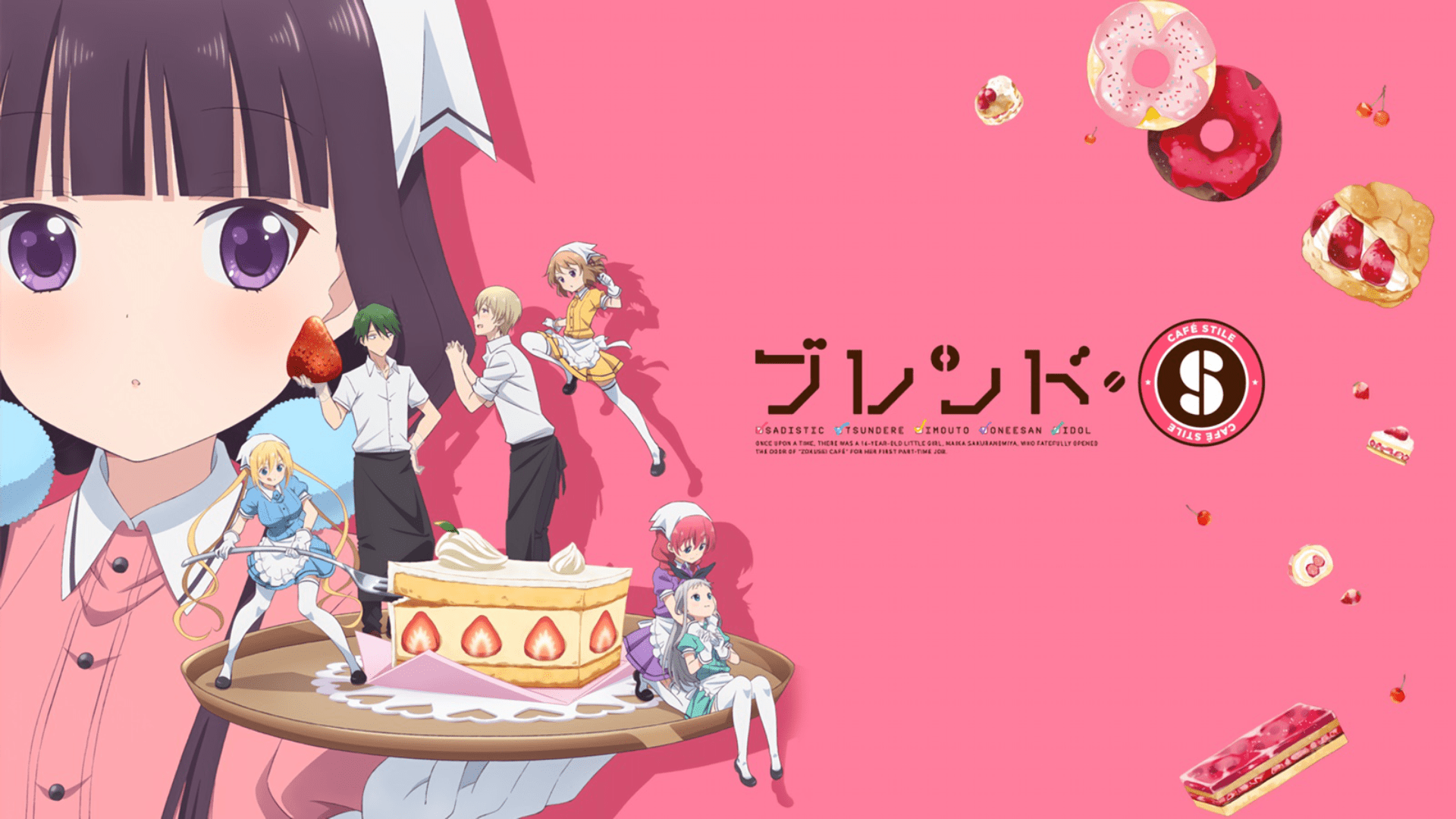 Cafe comedy and romance anime similar to Inu X Boku SS, BLEND S