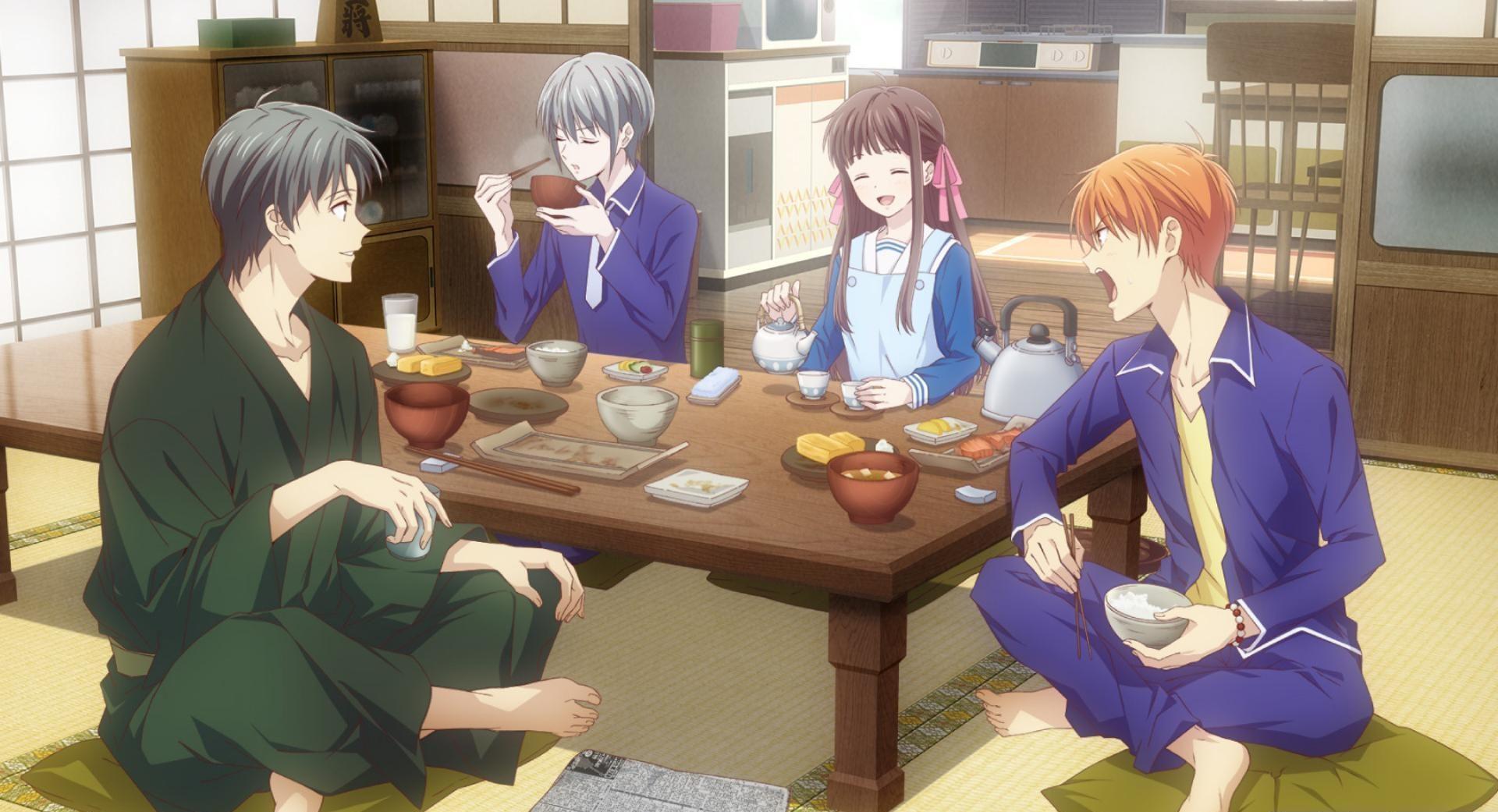 Fantasy romance anime similar to Inu X boku SS, Fruits Basket