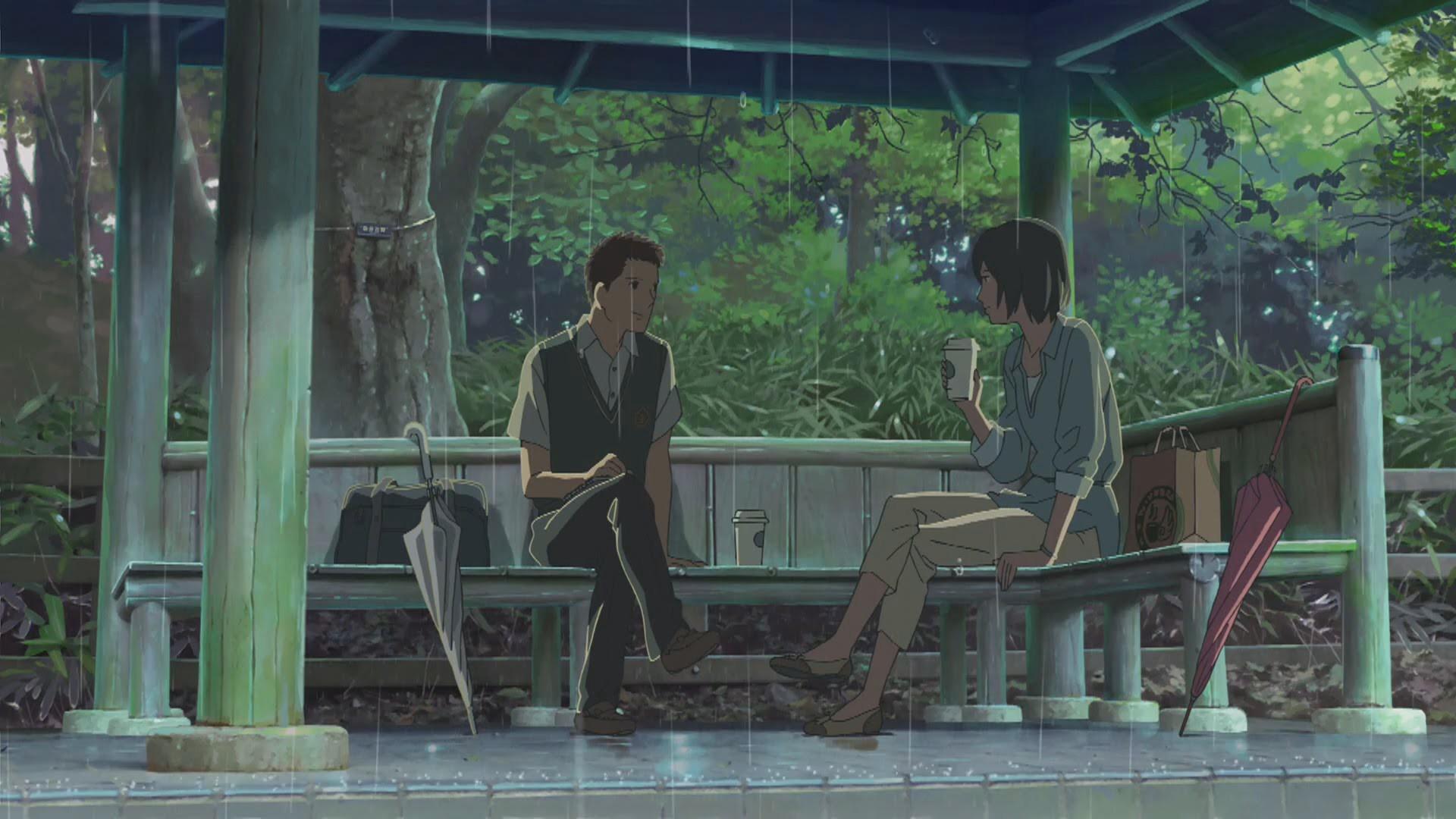 Makoto Shinkai film like Higehiro, The Garden of Words