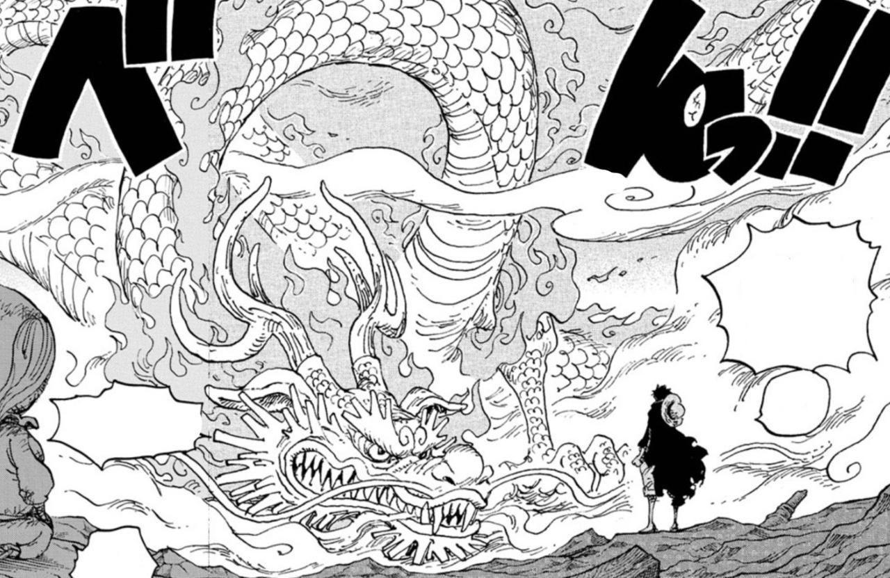 Momonosuke dragon form one piece