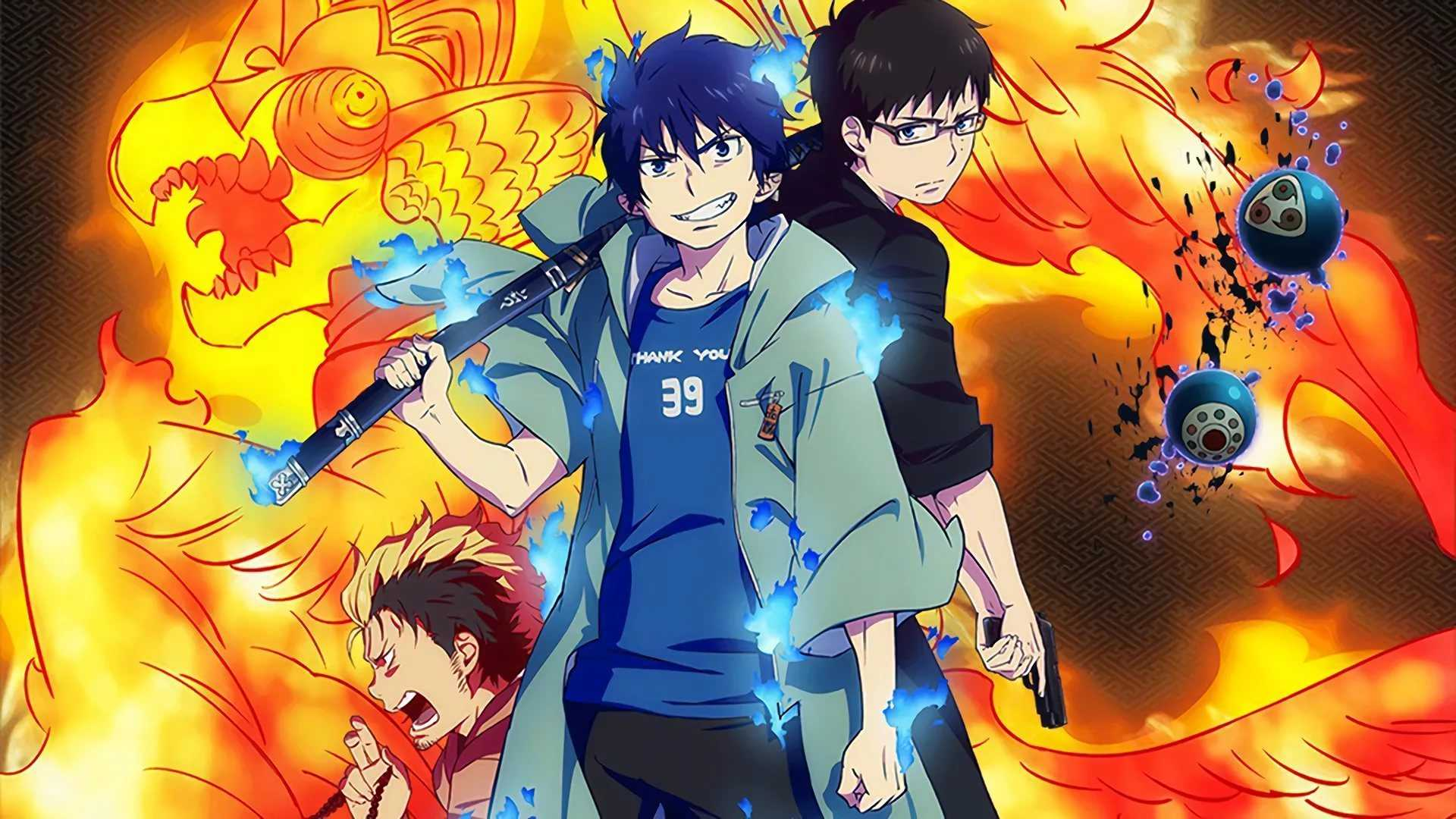 Ghouls, demons, and monsters anime like Jujutsu Kaisen, Blue Exorcist